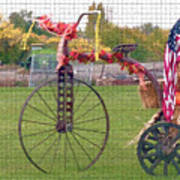 Seasonal Antique Tricycle 1 Art Print