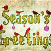 Season's Greetings Card Art Print