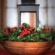Seasons Greetings Christmas Centerpiece Art Print