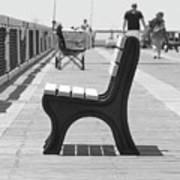 Seat On The Pier Art Print