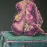 Seated Pink Nude Art Print