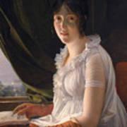 Seated Portrait Of Marie Philippe Claude Walbonne Art Print