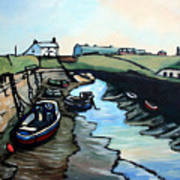 Seaton Sluice Harbour Art Print