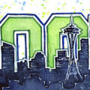 Seattle 12th Man Legion Of Boom Painting Art Print