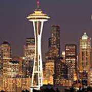 Seattle Full Moon Art Print