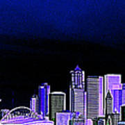 Seattle Blue 2 Art Print