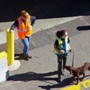 Seattle Dock Dog Workers 1 Art Print