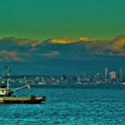 Seattle Evening Art Print