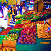Seattle Farmers Market 2 Art Print