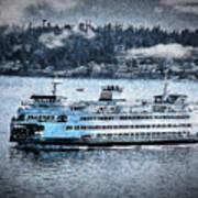 Seattle Ferry Art Print
