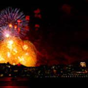 Seattle Fireworks Art Print