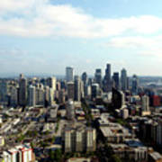Seattle From Above Art Print