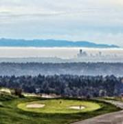 Seattle In The Fog Art Print