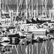 Seattle Marina Art Print