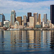 Seattle Reflection Art Print