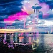 Seattle Rose Art Print