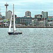 Seattle Sail Art Print