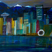 Seattle Skyiline Art Print