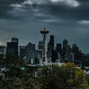 Seattle Skyline - Dramatic Art Print