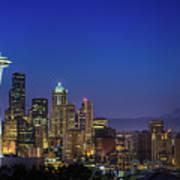 Seattle Skyline Print by Sebastian Schlueter (sibbiblue)