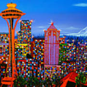 Seattle Space Needle 5 Art Print
