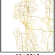 Seattle Washington City Street Map Art Photograph By Emiliano Deificus