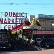 Seattle's Pike Place Market Center  Art Print