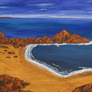 Secluded Beach Donegal Art Print