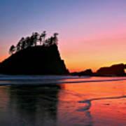 Second Beach Sunset Art Print