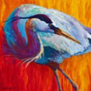 Second Glance - Great Blue Heron Art Print