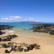 Secret Beach Of Kahoolawe And Molokini Art Print