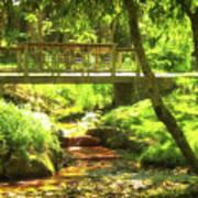 Secret Garden Bridge Art Print