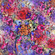 Secret Garden Flowers Art Print