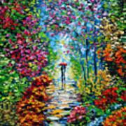 Secret Garden Oil Painting - B. Sasik Print by Beata Sasik