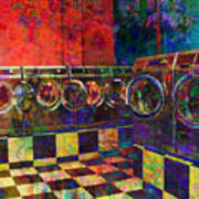 Secret Life Of Laundromats Art Print