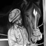 Secretariat And His Groom Art Print