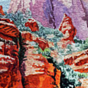 Sedona Arizona Rocky Canyon Art Print