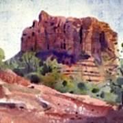 Sedona Butte Art Print