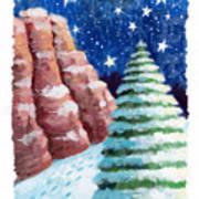 Sedona Holiday Art Print