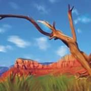 Sedona Red Rock Country Art Print by Bob Salo