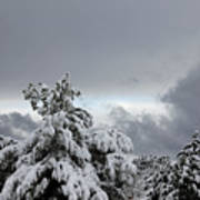 Sedona Skyline In Winter Art Print