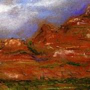 Sedona Storm Clouds Art Print