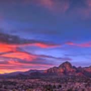 Sedona Sunset Print by Eddie Yerkish