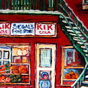 Segal's Market St.lawrence Boulevard Montreal Art Print