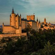 Segovia Alcazar And Cathedral Golden Hour Art Print