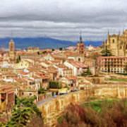 Segovia Cathedral View Art Print