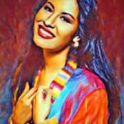 Selena Queen Of Tejano  Art Print