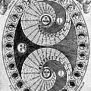 Selenic Shadowdial, Lunar Chart, 1646 Art Print