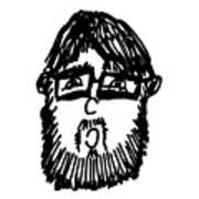 Self Comic Drawing Art Print by Karl Addison