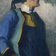Self-portrait In Bretonnian Garb Art Print